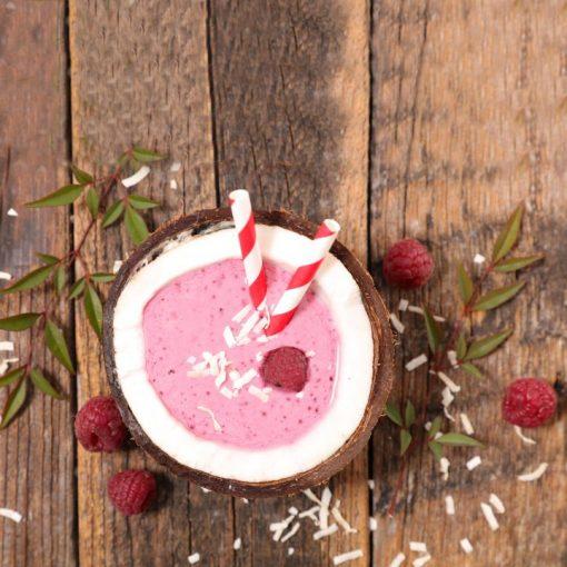 Raspberry-Coconut-Frappe