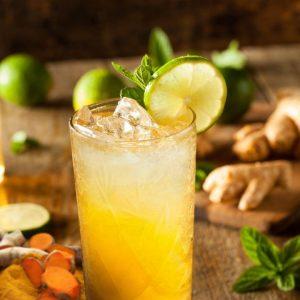 Turmeric Lemon Ginger & Honey Soda